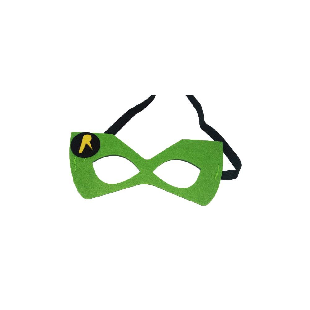 Robin Comic Cartoon Kids Costume Felt Mask by Superheroes Brand
