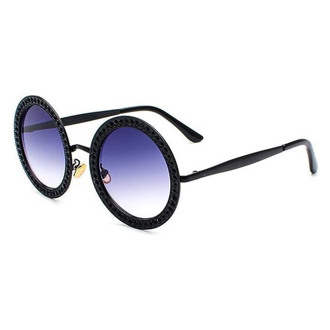 Gafas de sol redondas de gran tamaño con diamantes de ...