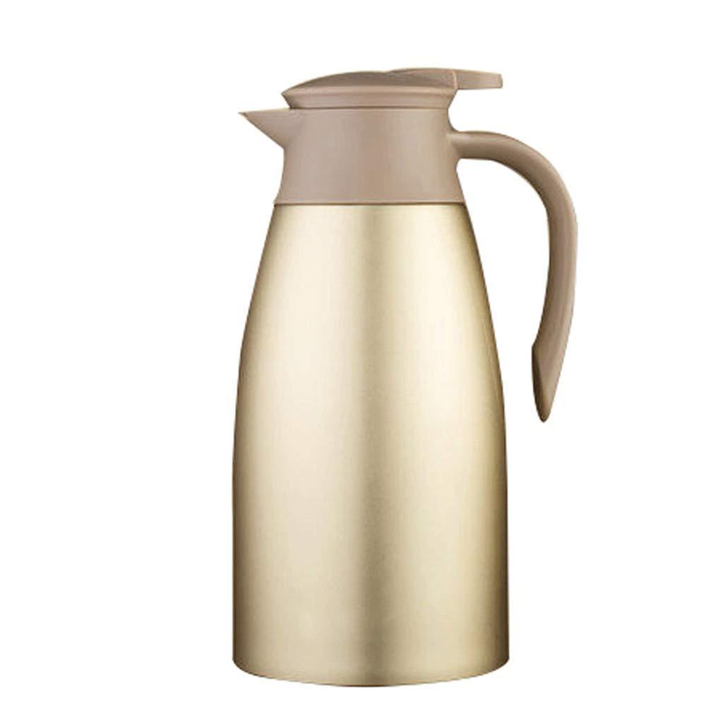 WLHW Trinkflaschen Vakuumkrug-Isolierungs-Topf, 2L 304 Edelstahl-doppelter Wandkaffeetopf-Saft-Milch-Tee 68Oz
