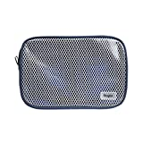 Ringke [Pouch] Travel Organizer Bag Multi-function Travel Portable Pouch, Mesh & Transparent Vinyl Window, Zippered Top, Divided Pockets Tidy Electric Gadgets Accessories Cosmetic Bag - Royal Navy (M)