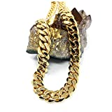 Gold Cuban Link Chain Necklace for Men Real 11MM 14K Karat Diamond Cut Heavy w Solid Thick Clasp US Made (24)