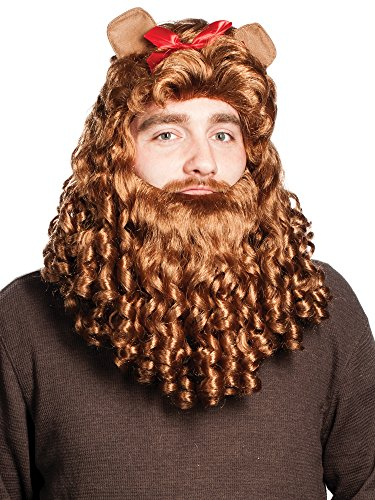 Enigma Wigs Men's Cowardly Wig, Brown One -