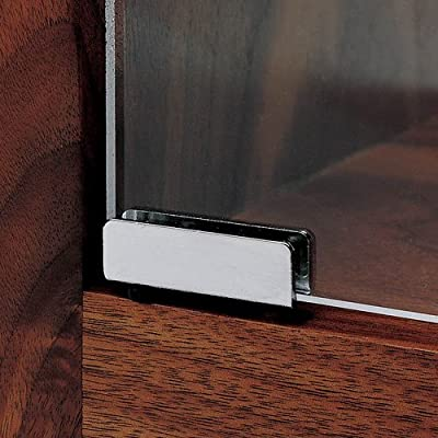Glass Door Pivot Hinge, Satin Black, Pair
