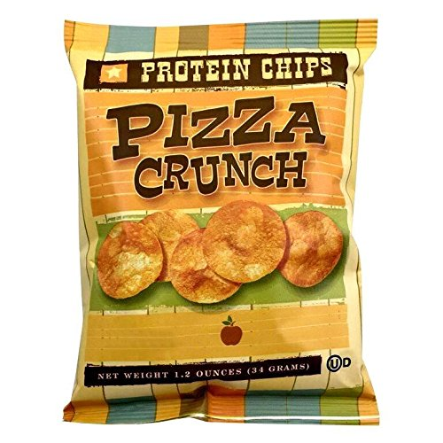 HealthSmart - Pizza Crunch Protein Diet Chips - High Protein - Low Calorie - Low Fat - Low Carb - High Fiber - Healthy Weight Loss Chips (7 (Low Fat Pizza)