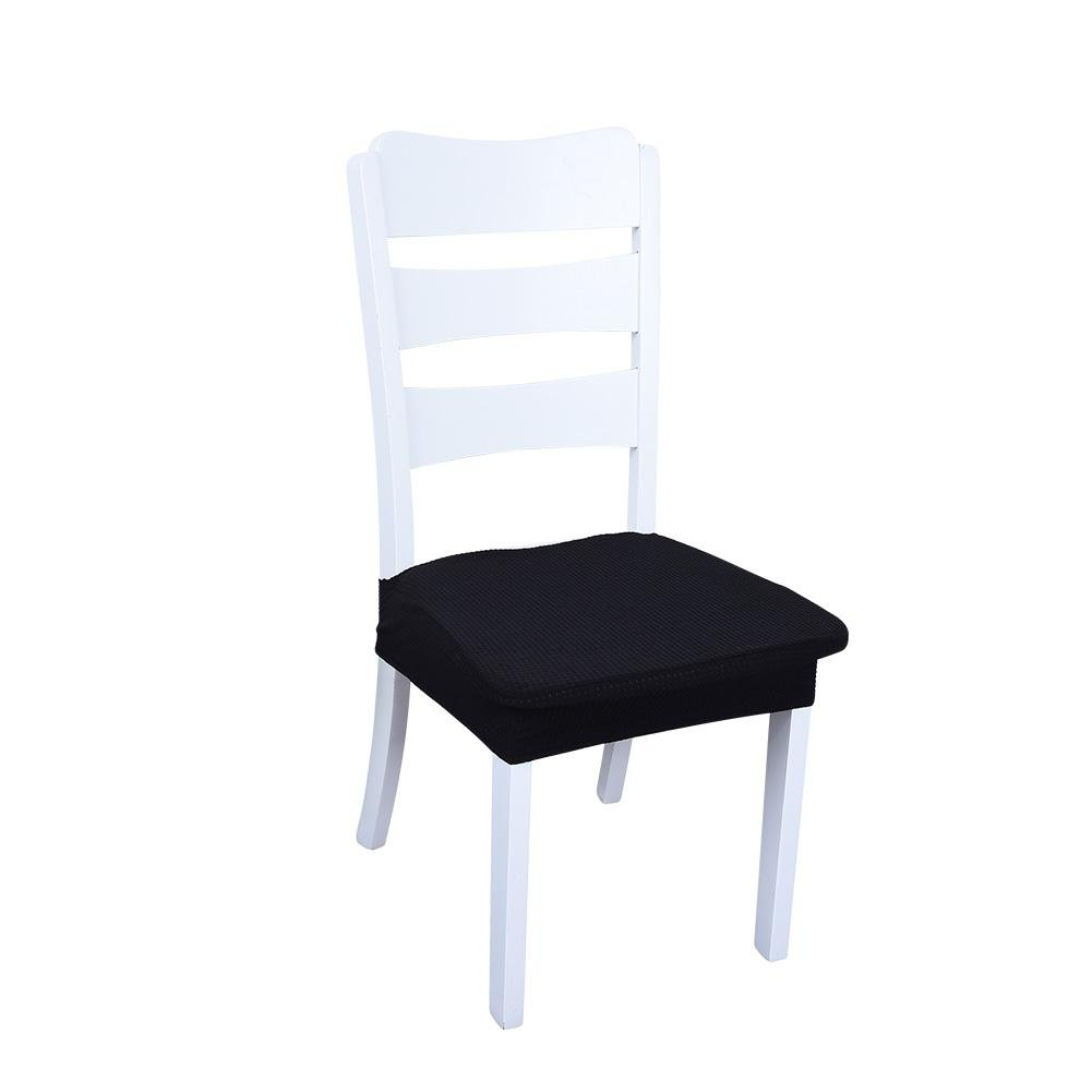 Biback 2 PCS Waterproof Chair Cover Fabric Simple Elastic Cover Seat Cover Dining Chair Cover Protector