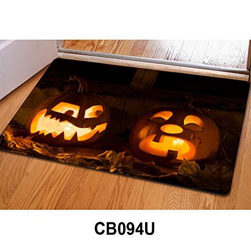 HUGS IDEA Halloween Spider Web Doormat Non-Slip Welcome Mat Indoor Outdoor Rug Kitchen Living Room Bedroom -