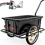 51nnITyNPhL. SS150 Deuba Rimorchio per bicicletta vasca in plastica rimovibile 90 L carrello per bici trasporto oggetti 80Kg