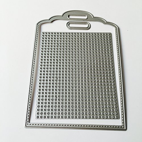 Feamos Cross-stitch Tag Cutting Dies Creative Cards Making and Papercrafting for DIY Carbon Steel Silver Christmas Festival ()