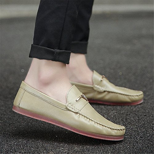 Flats Green Boat Shoes Loafers SHELAIDON Moccasins Slip Men's Leather On 4BBwZqH