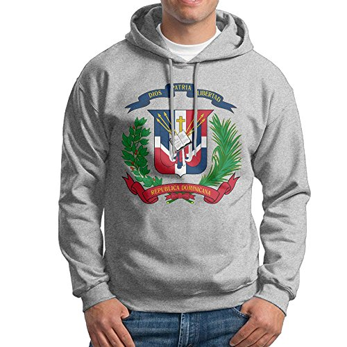 - X-JUSEN Men's Coat Of Arms Of Dominican Republic Hoodies Hooded Sweatshirt Pullover Sweater, Drawstring Hooded Tunic Shirt Set