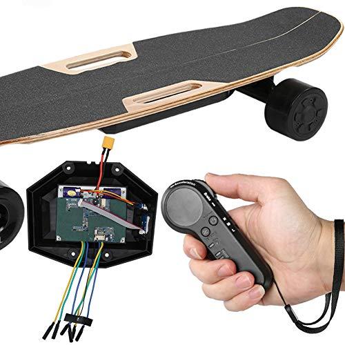 Keenso Skateboard Controller, Electric Four Wheel Skateboard Belt Motor Dual Drive Controller Box Set Equipment