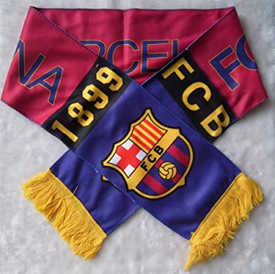 Fc Barcelona Badge Logo Football Soccer Scarf