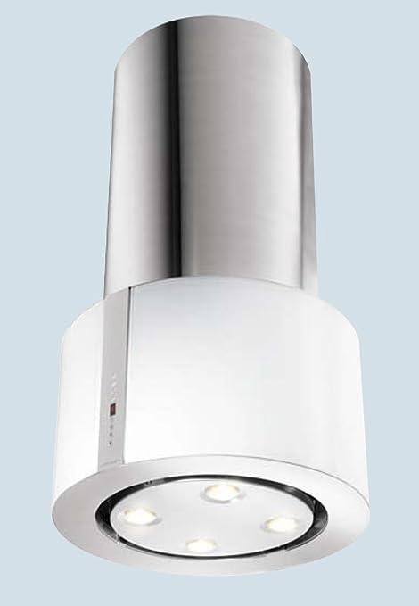 Faber 50 cm Cassiopea acero inoxidable con cristal blanco translúcido con acabado isla Coork capucha/Extractor de 500 mm (2 años garantía del fabricante): Amazon.es: Hogar