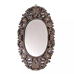 Onlineshoppee Antique with Handicraft Work Wood Mirror Frame (30 cm x 2 cm x 50 cm, Brown)