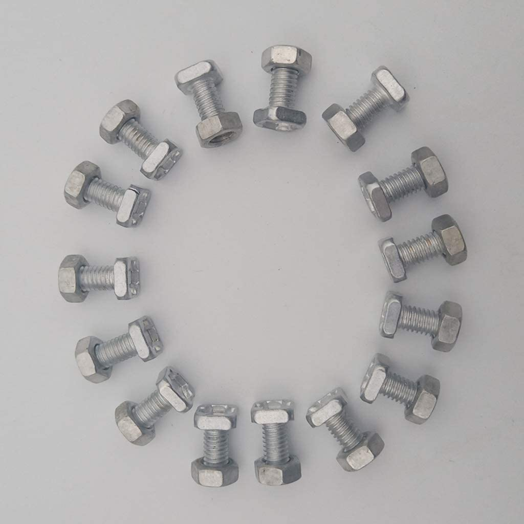 Fenteer 60pcs Aluminum Nuts And Bolts Greenhouse Replacement Accessory Hard Tool