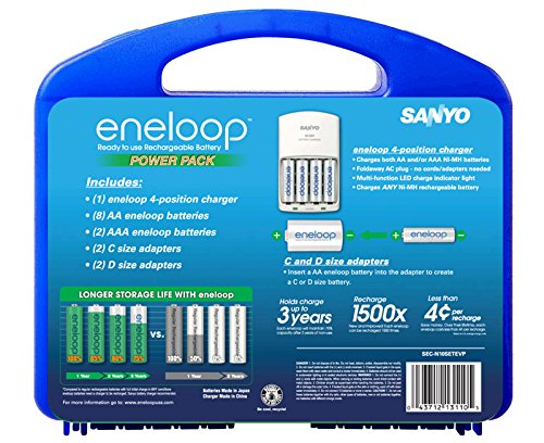 Sanyo NEW 1500 eneloop AA Ni-MH Pre-Charged Rechargeable Batteries