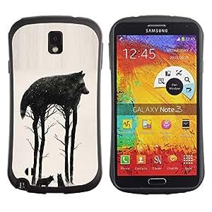 "Hypernova Slim Fit Dual Barniz Protector Caso Case Funda Para Samsung Note 3 [Árboles Resumen Significado Naturaleza""]"