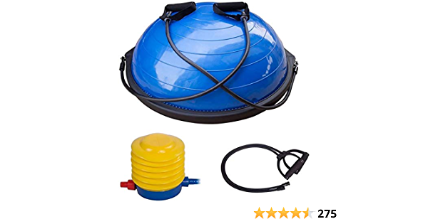 Standard Colibyou Limited Edition Yoga Half Ball Dome Balance Trainer Fitness Strength Exercise Workout with Pump Blue by SKB
