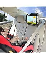 Autohouder TFY autohoofdsteunen houder met siliconen houdernet compatibel met 4,5-6 inch mobiele telefoons en 7-10,5 inch tablets