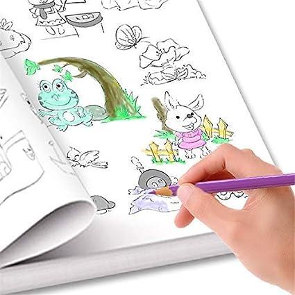 Libro De Dibujo Para Bebe Con Dibujos Animados Frutas Verduras Y