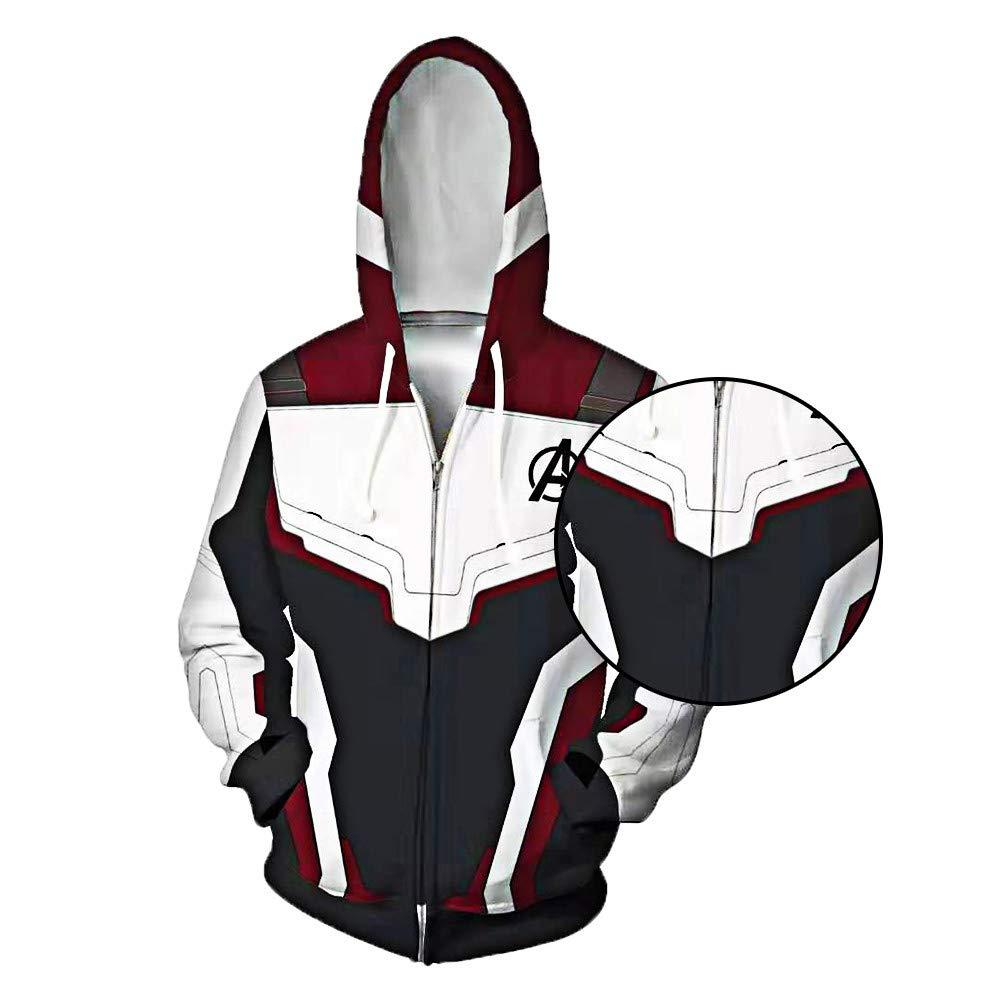 HELLO TODAY The Avengers 4 Felpa Supereroe Concetto Quantum Suit Cosplay Felpe con Cappuccio