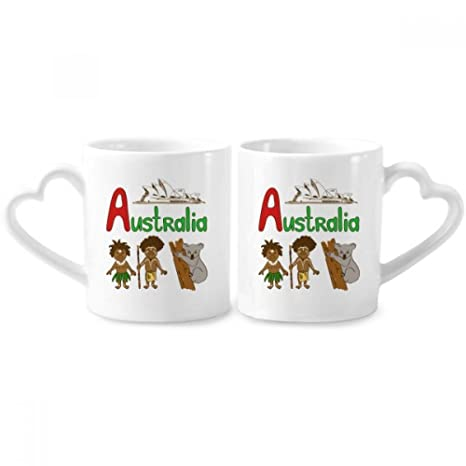 Amazon Australia National Symbol Landmark Pattern Couple Mugs