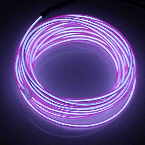 JYtrend 9ft Neon Light El Wire w/Battery Pack - Purple -