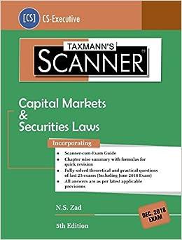 Buy Scanner-Capital Markets & Securities Laws (CS-Executive