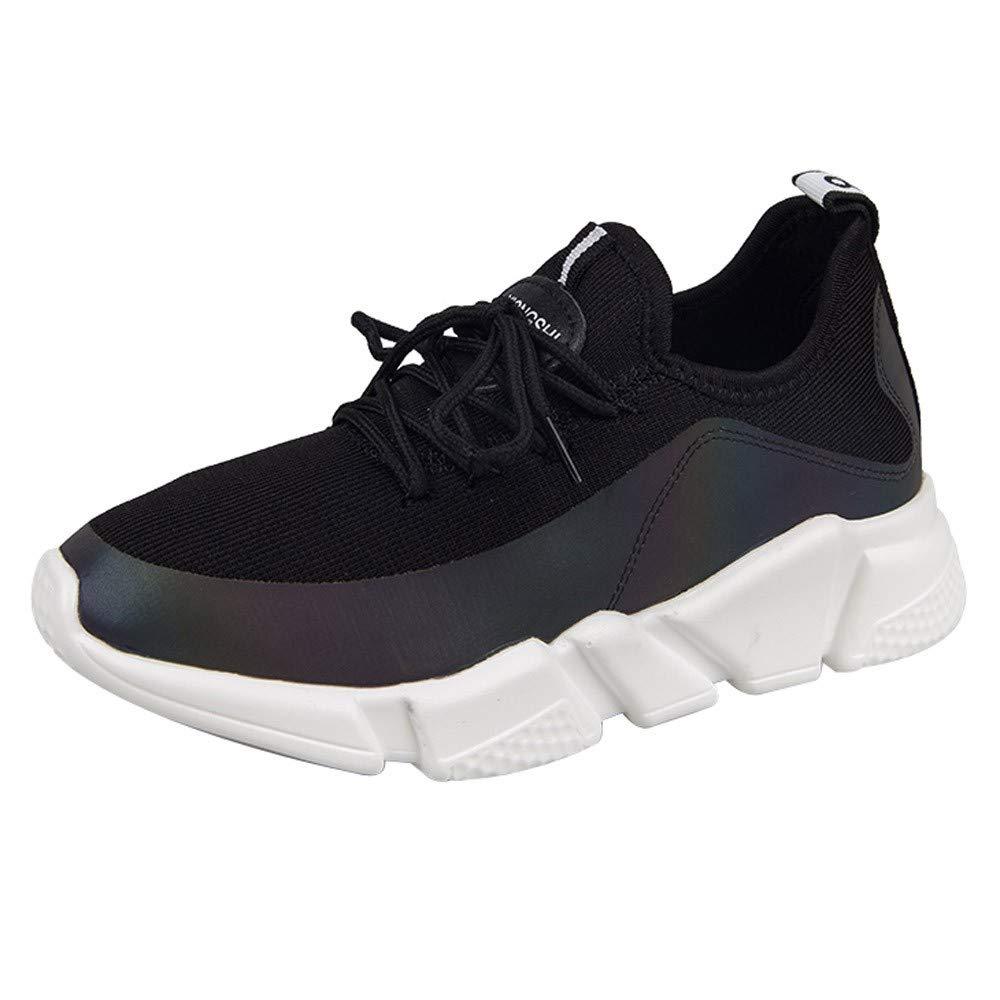 Sylar Gimnasia Ligero Sneakers Zapatillas De Deportivos De Running para Mujer Malla Transpirable Moda Suela Blanda Zapatillas De Cordones 36-41