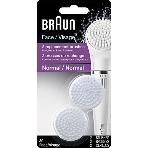 Braun Face 80 – Pack of 2 Brush Refills for Braun Mini-Facial Electric Hair Removal Epilator with Facial Cleansing Brush for Women Review