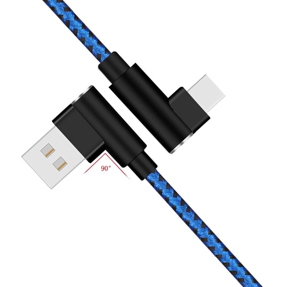 LG G7 G6 G5 V30 V20 Samsung Galaxy S9 S8 Plus Note 9 8 3Pack 3FT 6FT 10FT Blue Braided Fast Charger USB Type C Cable Galaxy S9 Charging Cable, CTREEY USB C to USB A Cable for Pixel 3 XL