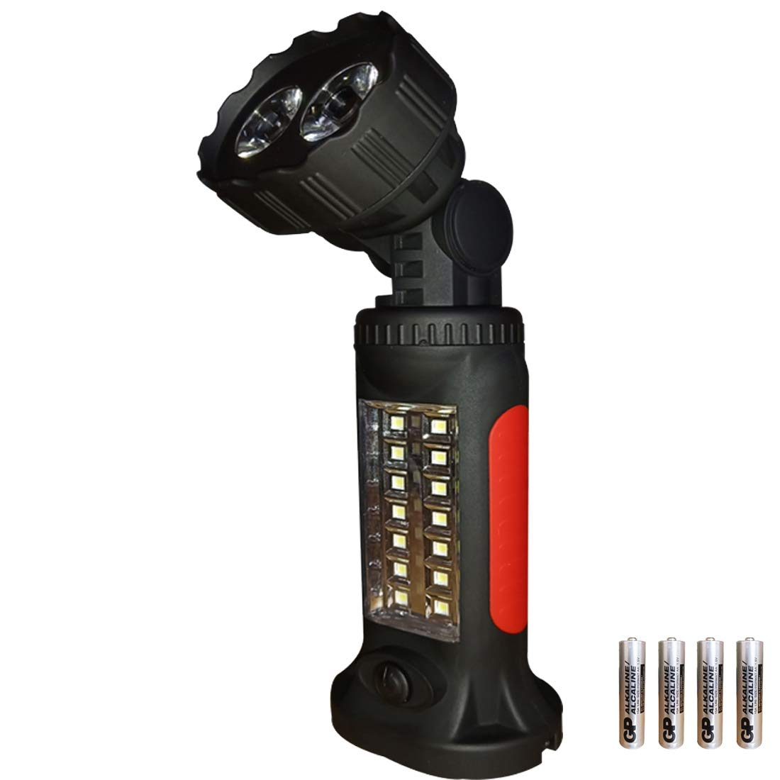 LED Work Light Camping Lantern Flashlight and COB Working Light with Magnetic Base Hanging Hook, Pocket LED Magnetic Flashlight for Car Repairing, Blackout and Emergency