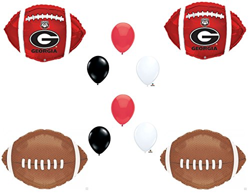 GEORGIA BULLDOGS Football Game Day Birthday Party Balloons Decorations Supplies College University -
