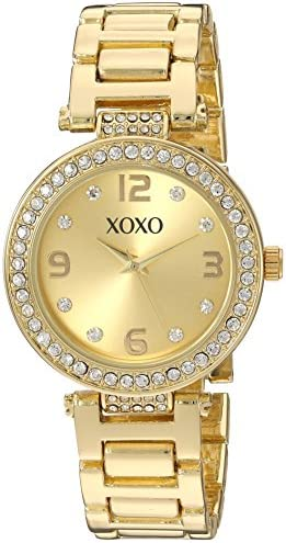 Amazon.com: XOXO Women's Quartz Metal and Alloy Watch, Color:Gold-Toned (Model: XO5930): Watches