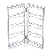 Choice Fun Foldable Acrylic 2-Panel Jewelry Screen Countertop Display Stands for Hanging Earrings, Necklace, Chains