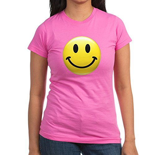 (Royal Lion Junior Jr. Jersey T-Shirt (Dark) Smiley Face HD - Raspberry, Small)