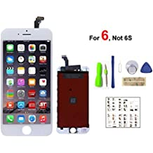 iPhone 6 Screen Replacement For Lcd Touch Screen Digitizer Frame Assembly Set (White)