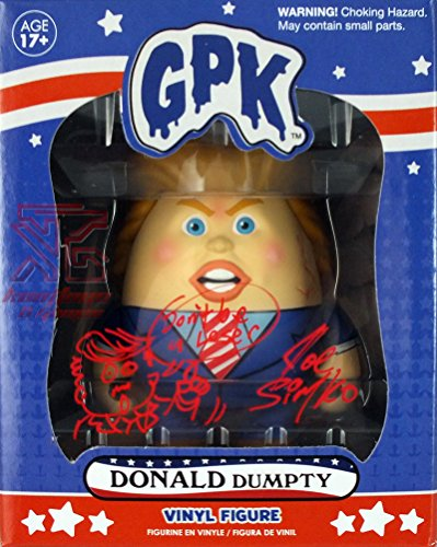 Hand Drawn Doodle (Donald Dumpty (Donald Trump) Garbage Pail Kids Mystery Minis Vinyl Figure Signed by Joe Simko w/ Hand Drawn Doodle & Quote - Limited Edition of 60)