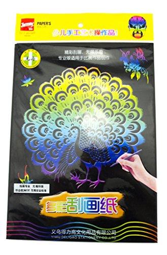 HAND JM-0246 Scratch Art Paper 29 cm x 21 cm Multicoloured 5 Sheets