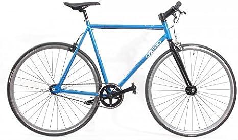 KHE Prism Uno Fixie Bicicleta 57 cm (color negro, llanta de color ...
