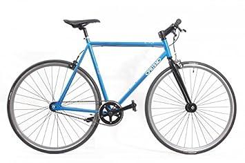 KHE Prism Uno Fixie Bicicleta 57 cm (color negro, llanta de color naranja); directamente desde KHE: Amazon.es: Deportes y aire libre