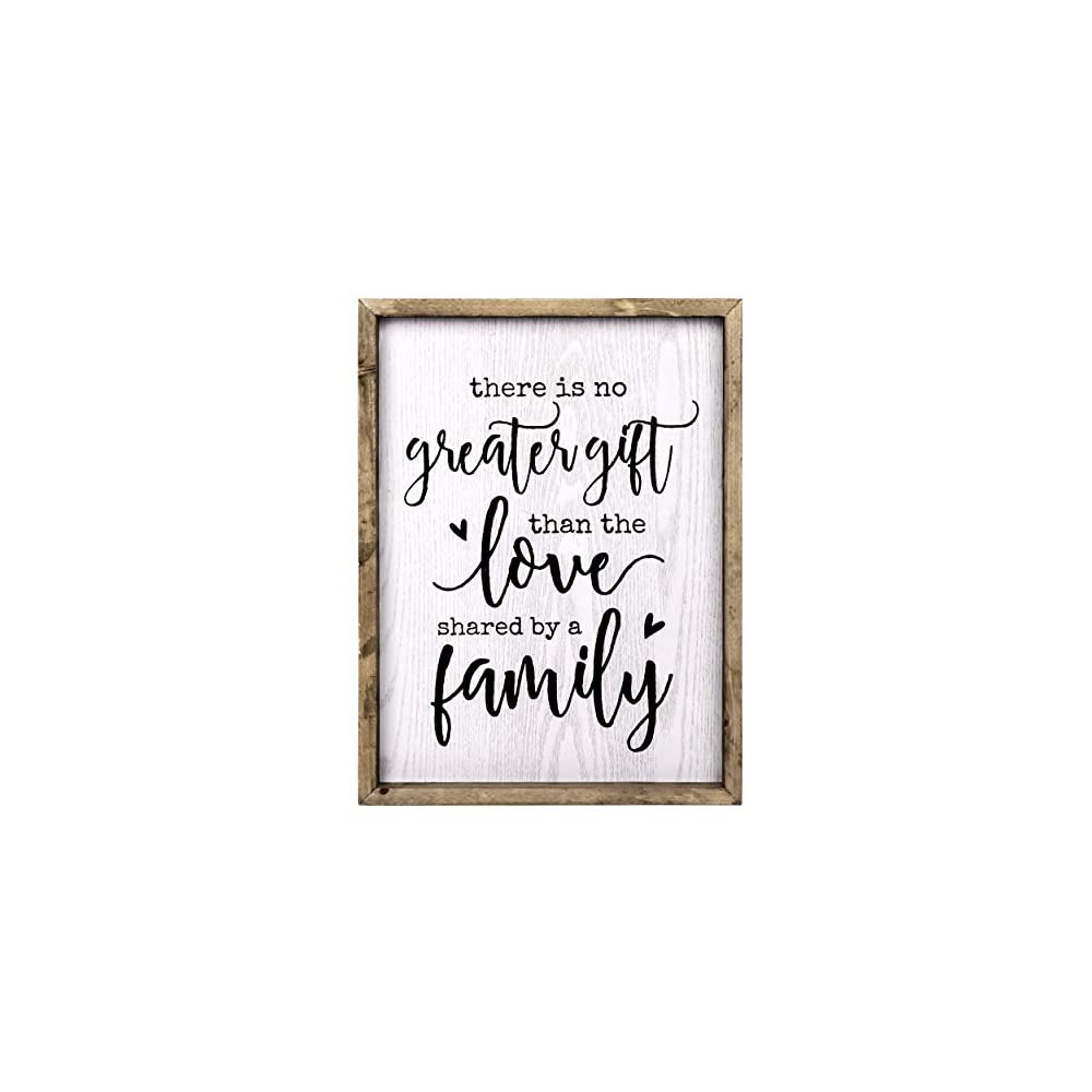TERESA'S COLLECTIONS Family Love Sign Rustic Wood Wall Hanging Signs, Large Framed Farmhouse Sign Family Wall Art Sign…