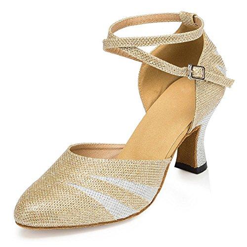 KeKe Shoes - Zapatillas de danza para mujer M023Gold