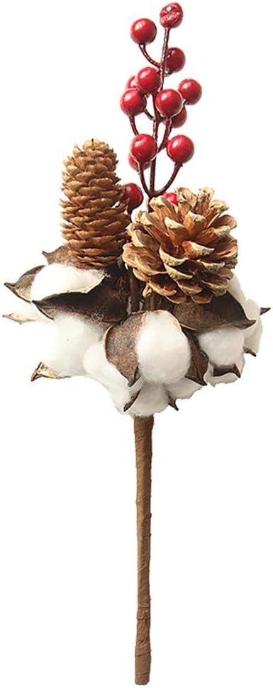 Joyfeel - Ramo de Flores secas de algodón secas para jardín ...