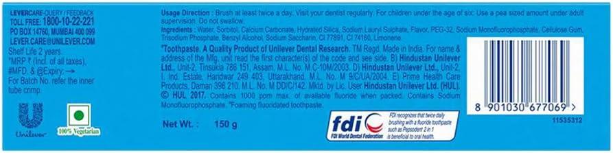 Pepsodent 2 en 1 Pasta de dientes 150 mm: Amazon.es: Hogar