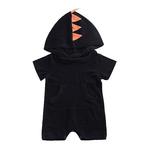 905b90414 Cuekondy Toddler Baby Girls Boys 2019 Fashion Dinosaur Hooded Jumpsuit  Romper Summer Short Sleeve Bodysuit Playsuit