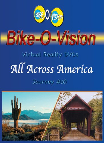 Bike-O-Vision - Virtual Cycling Adventure - All Across America, Vol. 1 - Perfect for Indoor Cycling and Treadmill Workouts - Cardio Fitness Scenery Video (Fullscreen DVD #10)