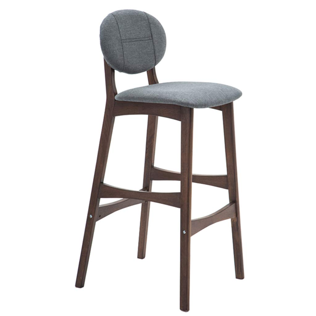Excellent Amazon Com Xfpink Solid Wood Bar Stool 75Cm High Back Gamerscity Chair Design For Home Gamerscityorg