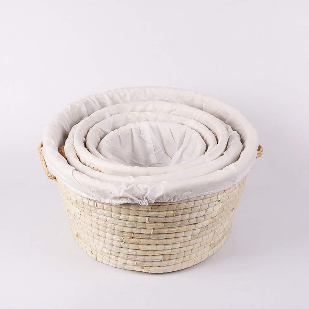 Bread Proofing Basket + Linen Liner Cloth for Professional & Home Bakers, Bread Roll Basket Baskets, Restaurant Serving/Diplay Baskets |19.6''11.8''