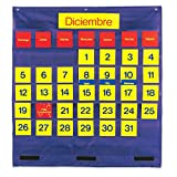 LEARNING RESOURCES BILINGUAL MONTHLY CALENDAR POCKET (Set of 6)